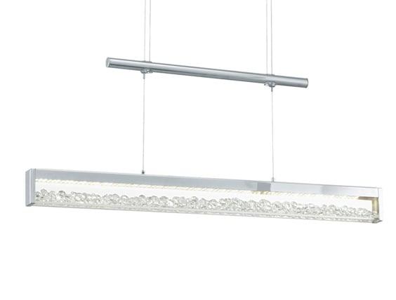 Höhenverstellbare LED Pendelleuchte Cardito 70cm Mit Edlen Glas Kristallen    Dimmbar