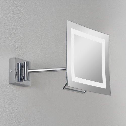praktischer niro plus spiegel mit leuchte schwenkbar. Black Bedroom Furniture Sets. Home Design Ideas