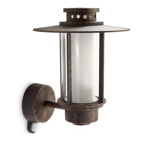 rustikale es wandau enleuchte origin aus aluminium mit bewegungsmelder philips 153288616. Black Bedroom Furniture Sets. Home Design Ideas