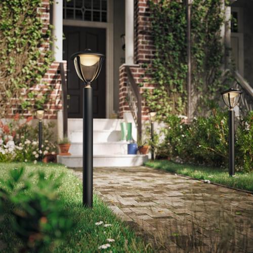 Hochwertige led wegeleuchte robin in schwarz philips for Hochwertige solarleuchten