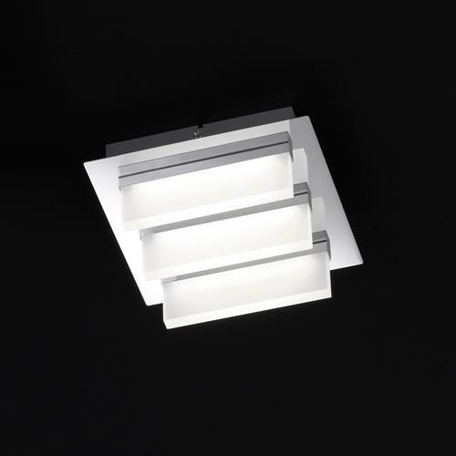 sporto deckenleuchte chrom quadratisch 3 flg honsel. Black Bedroom Furniture Sets. Home Design Ideas