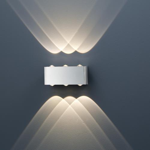 gediegene led wandleuchte aberdeen mit up und downlight. Black Bedroom Furniture Sets. Home Design Ideas