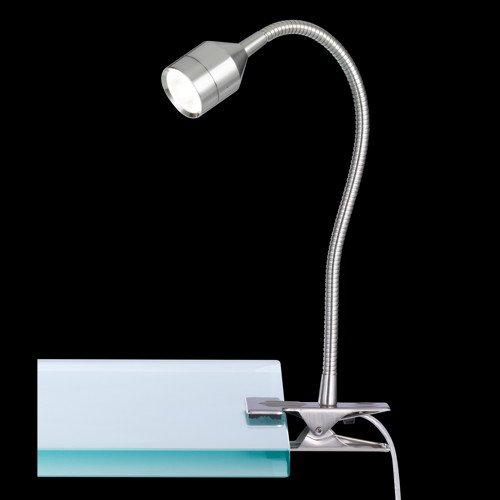 moderne led klemmleuchte lovi in mattnickel honsel 22751 click. Black Bedroom Furniture Sets. Home Design Ideas