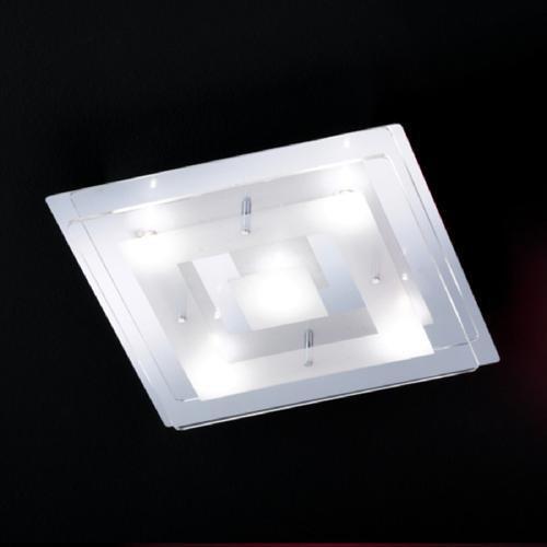 elegante deckenleuchte lamei in chrom und glas honsel 27895 click. Black Bedroom Furniture Sets. Home Design Ideas
