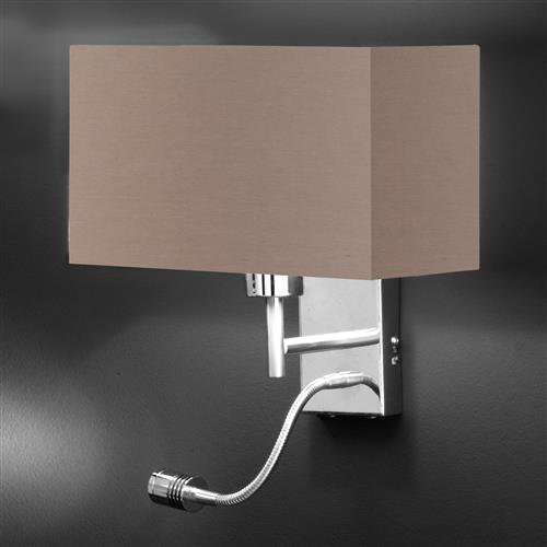 praktische wandleuchte kempten in cappuccino mit lesearm. Black Bedroom Furniture Sets. Home Design Ideas
