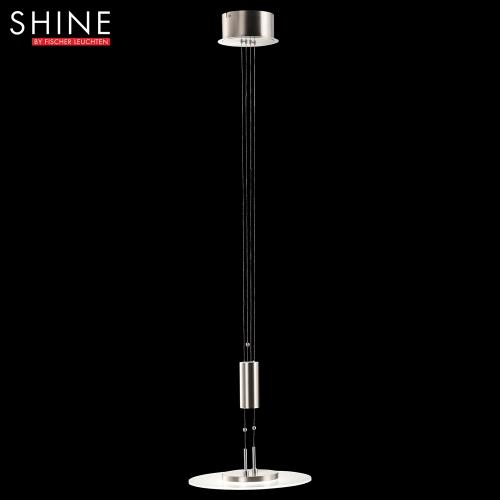 Hochwertige pendelleuchte shine led in nickel matt chrom for Hochwertige tischlampen