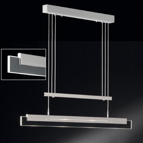 geradlinige pendelleuchte lili in mattnickel und chrom mit klarem glas 4flg honsel 63564. Black Bedroom Furniture Sets. Home Design Ideas