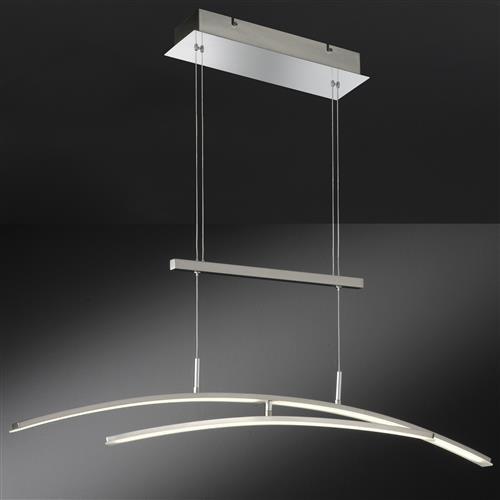 modische pendelleuchte mikado in mattnickel. Black Bedroom Furniture Sets. Home Design Ideas
