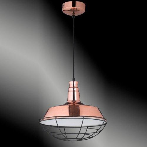 Honsel Stylische Pendelleuchte Copper in altkupferfarbig poliert