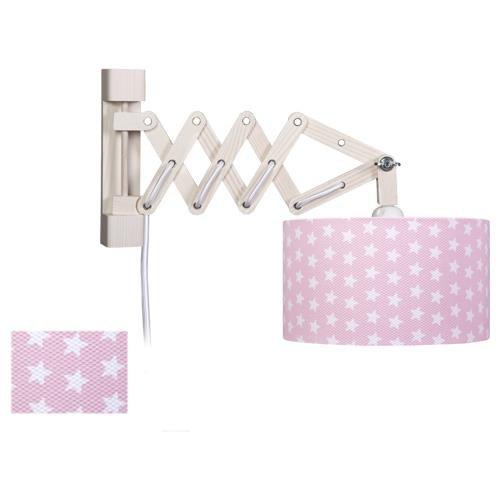 attraktive wandleuchte sterne in rosa mit schalter waldi 82615 0 click. Black Bedroom Furniture Sets. Home Design Ideas