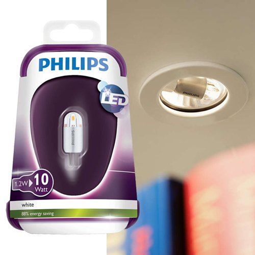 philips led capsule leuchtmittel g4 1 2w 10w 3000k philips 8718696422304 click. Black Bedroom Furniture Sets. Home Design Ideas