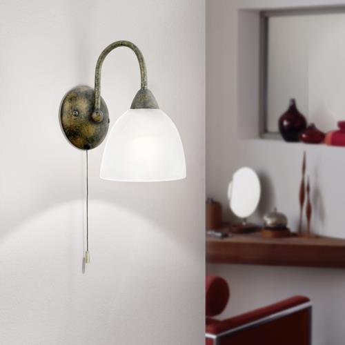 klassische wandleuchte mit hochwertigem alabasterglas. Black Bedroom Furniture Sets. Home Design Ideas