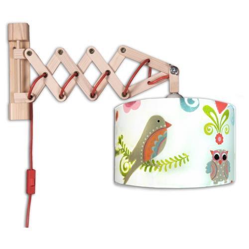 wandleuchte schere paradiesvogel mit schalter 1 flammig in verschiedenen vari waldi. Black Bedroom Furniture Sets. Home Design Ideas