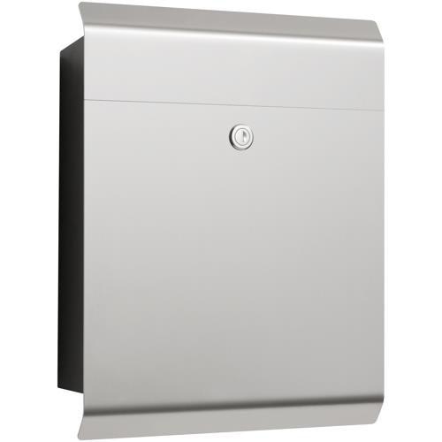 moderner briefkasten in eckig aus edelstahl. Black Bedroom Furniture Sets. Home Design Ideas
