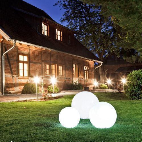 Gartenkugeln kugelleuchten leuchtkugeln click for Beleuchtung garten