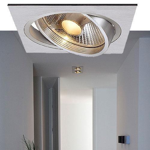 new tria i es111 einbaustrahler eckig alu brushed slv. Black Bedroom Furniture Sets. Home Design Ideas