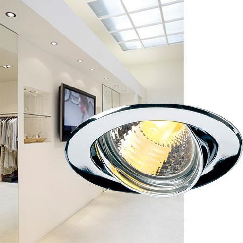 gu10 sp einbaustrahler chrom slv 116112 click. Black Bedroom Furniture Sets. Home Design Ideas