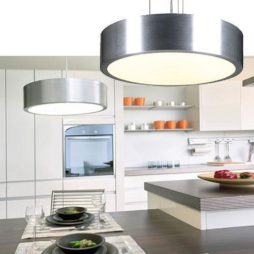 moderne slv medo pendelleuchte t5 40w rund in silber und wei slv 149262 click. Black Bedroom Furniture Sets. Home Design Ideas