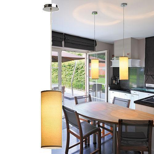 soprana pendelleuchte pd 3 rund beiges textil e27 slv 155383 click. Black Bedroom Furniture Sets. Home Design Ideas