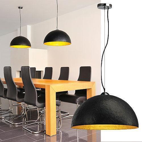 forchini pendelleuchte pd 1 rund schwarz gold 50cm slv. Black Bedroom Furniture Sets. Home Design Ideas