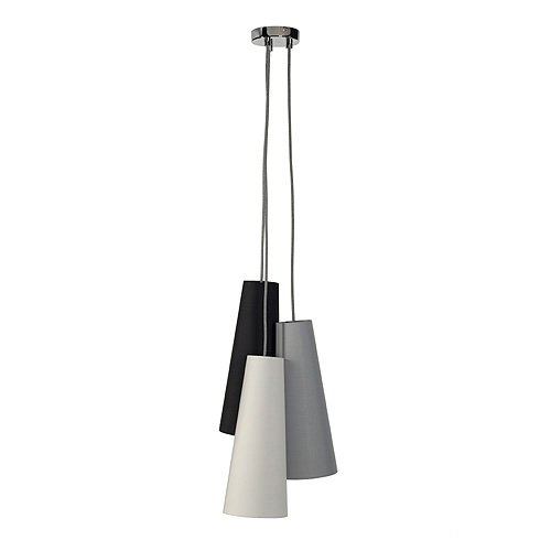 ansprechende slv pendelleuchte soprana cone rund in schwarz wei grau 3 slv 155770. Black Bedroom Furniture Sets. Home Design Ideas
