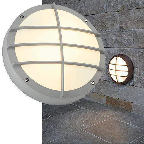 bulan grid wandleuchte rund silbergrau e27 max 2x25w slv 229084 click. Black Bedroom Furniture Sets. Home Design Ideas