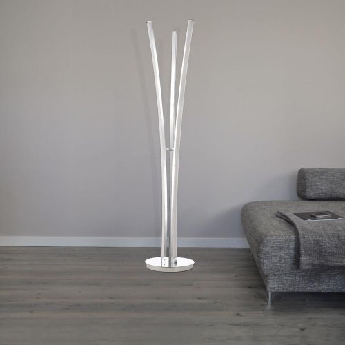 dekorative led standleuchte seattle in chrom dimmbar 3 flg. Black Bedroom Furniture Sets. Home Design Ideas