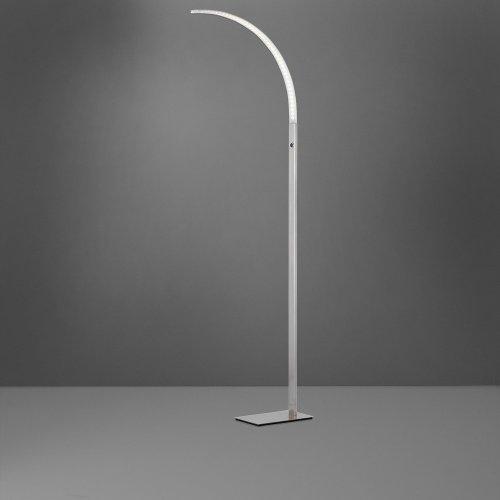 standleuchte luz in silber matt mit dimmer 1flg wofi click. Black Bedroom Furniture Sets. Home Design Ideas