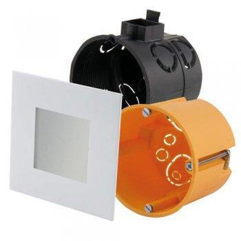 led panel 75 x 75 mm f r schalterdosen. Black Bedroom Furniture Sets. Home Design Ideas