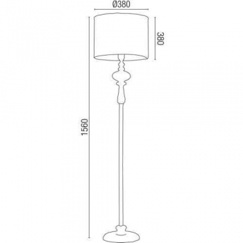 Chrom stehlampen kaufen click for Hochwertige stehlampen