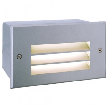 Wandeinbauleuchte Side 5 LED in Aluminium warmwei�