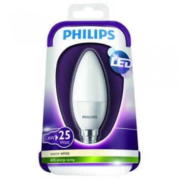 Philips LED Kerze E14 4W (25W) 2700K