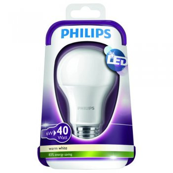Philips LED Leuchtmittel E27 6W (40W) 2700K