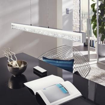 moderne designer pendelleuchte cardito mit glas kristallen. Black Bedroom Furniture Sets. Home Design Ideas