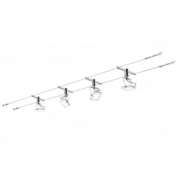 wire system meta 4x5w wei chrom 230 12v 30va. Black Bedroom Furniture Sets. Home Design Ideas