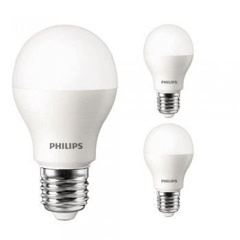 3er Set LED Leuchtmittel Philips LED Lampe 9,5W (60W)