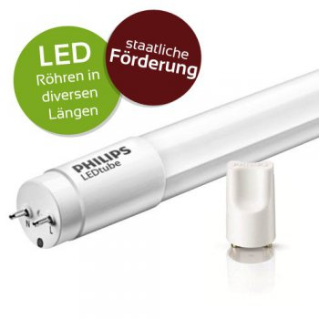 PHILIPS LED Tube T8 - verschiedene L�ngen &...