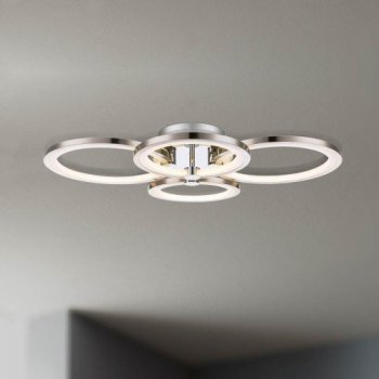Stylische LED Deckenleuchte Surrey in nickel-matt/chrom,...