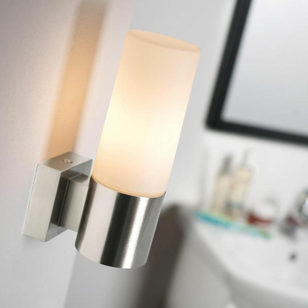 Badezimmer Wandleuchte Tangens Stahl Geburstet E14 Nordlux