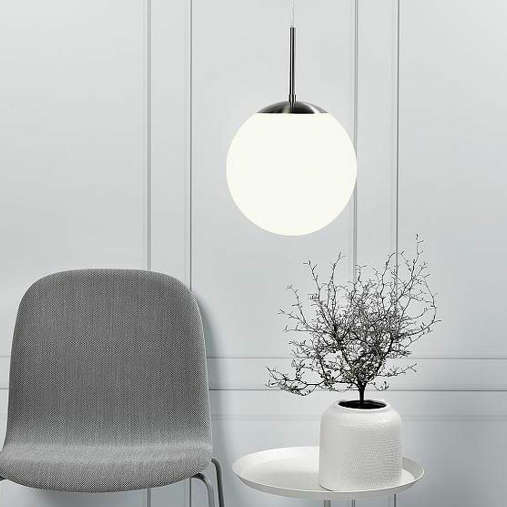 zeitlose Küchenleuchte Leuchtmittel dimmbar LED Design Pendelleuchte Glas weiß