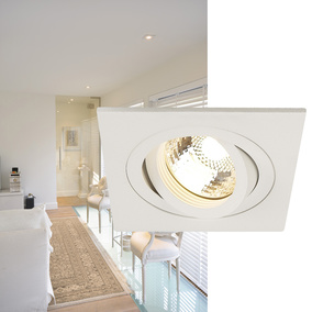NEW TRIA I GU10 Downlight, eckig, matt weiss