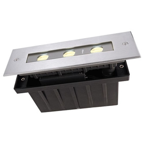 LED Bodeneinbauleuchte In Edelstahl Warmweiß