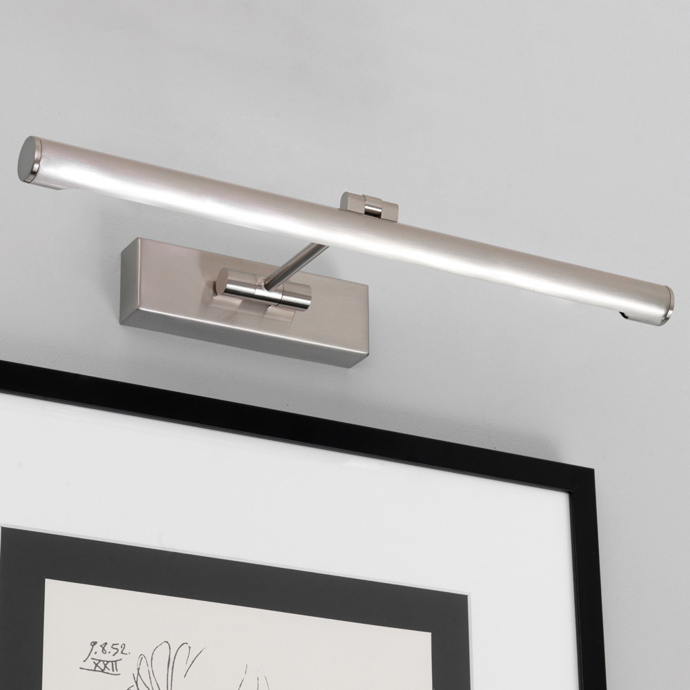 LED Bilderleuchte Goya in Nickel-Gebürstet 7,1W 821lm 460mm