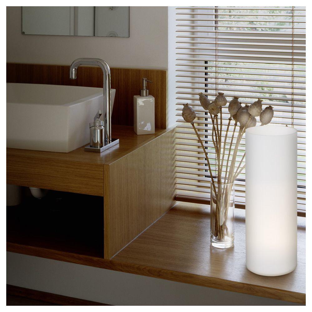 r hrenf rmige tischleuchte aus satiniertem glas eglo 81828 click. Black Bedroom Furniture Sets. Home Design Ideas
