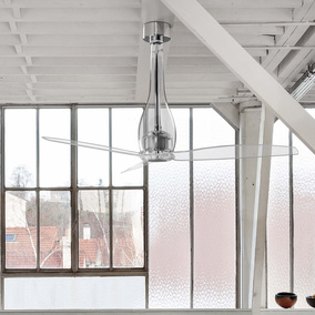 Moderner Faro Deckenventilator Eterfan in transparent