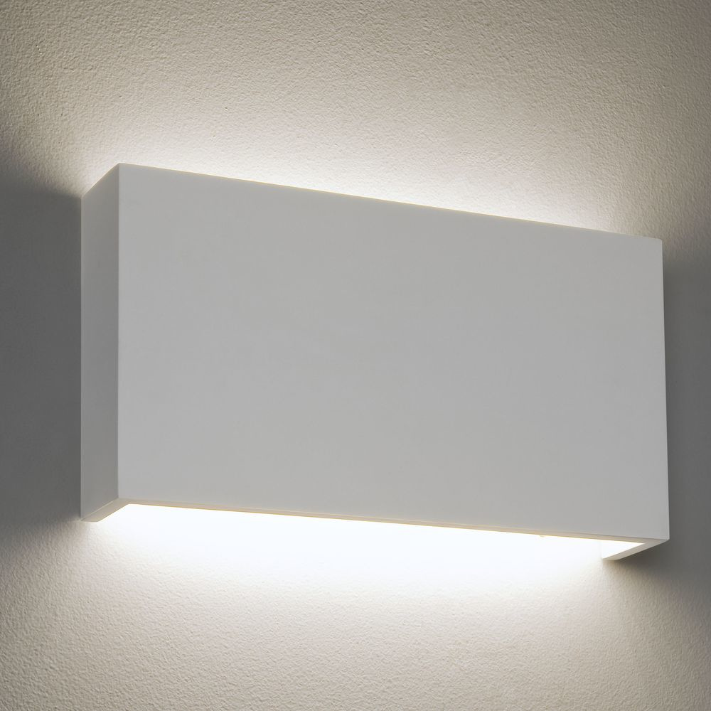 dimmbare led wandleuchte rio aus gips in wei 180 mm x 325 mm 3000 k astro a 7172 click. Black Bedroom Furniture Sets. Home Design Ideas