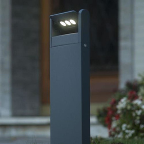 Moderne ECO-LIGHT Design-Aussenwegeleuchte, anthrazit