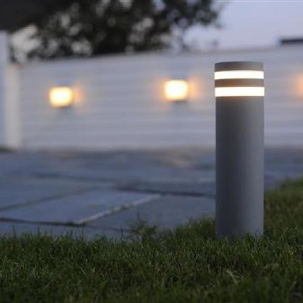 Modische ECO-LIGHT Design-Aussenwegeleuchte, anthrazit