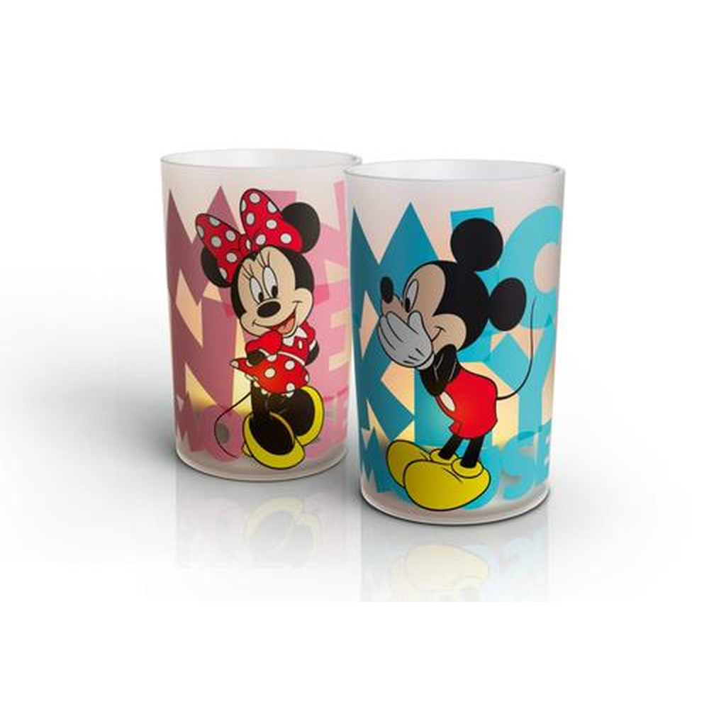 Gemütliches Candle Light Set Mickey Mouse und Minnie Mouse 2tlg.