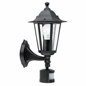 Outdoor mit Sensor, Up-Light, schwarz-matt, 1-flammig